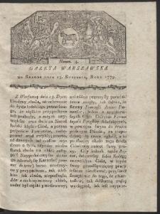Gazeta Warszawska. R. 1779 Nr 4