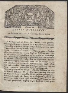 Gazeta Warszawska. R. 1779 Nr 5