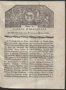 Gazeta Warszawska. R. 1779 Nr 6