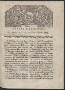 Gazeta Warszawska. R. 1779 Nr 8