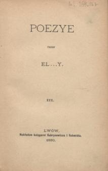 Poezye. III