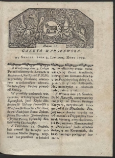 Gazeta Warszawska. R. 1779 Nr 10