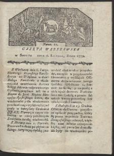 Gazeta Warszawska. R. 1779 Nr 11