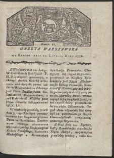 Gazeta Warszawska. R. 1779 Nr 12