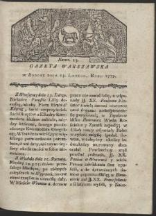 Gazeta Warszawska. R. 1779 Nr 13