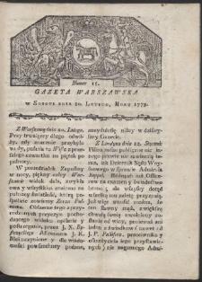 Gazeta Warszawska. R. 1779 Nr 15