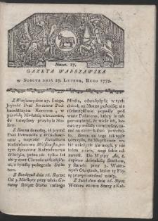 Gazeta Warszawska. R. 1779 Nr 17
