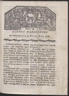 Gazeta Warszawska. R. 1779 Nr 18