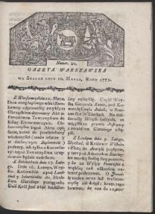 Gazeta Warszawska. R. 1779 Nr 20