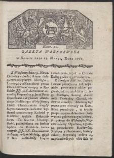 Gazeta Warszawska. R. 1779 Nr 21