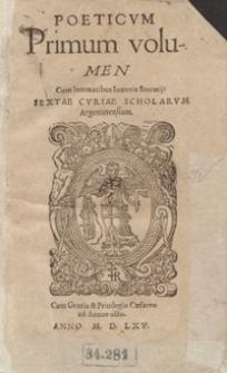 Poeticum Primum volumen [I-VI...]