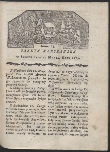 Gazeta Warszawska. R. 1779 Nr 23