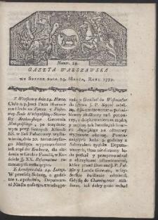 Gazeta Warszawska. R. 1779 Nr 24