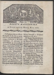 Gazeta Warszawska. R. 1779 Nr 25