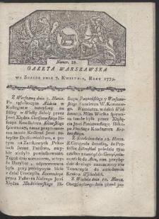 Gazeta Warszawska. R. 1779 Nr 28