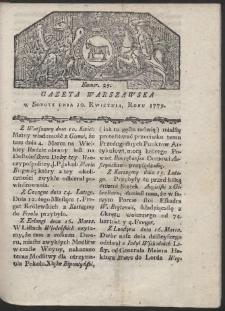 Gazeta Warszawska. R. 1779 Nr 29