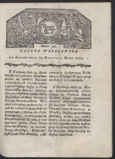Gazeta Warszawska. R. 1779 Nr 30