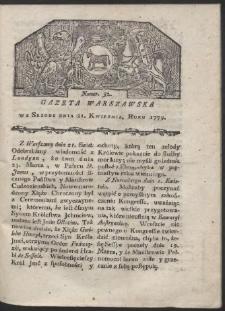Gazeta Warszawska. R. 1779 Nr 32