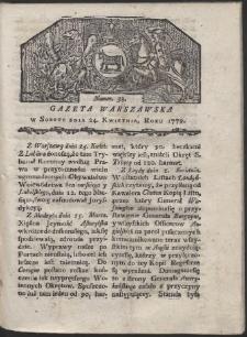 Gazeta Warszawska. R. 1779 Nr 33