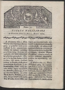 Gazeta Warszawska. R. 1779 Nr 35