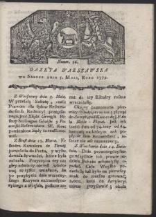 Gazeta Warszawska. R. 1779 Nr 36
