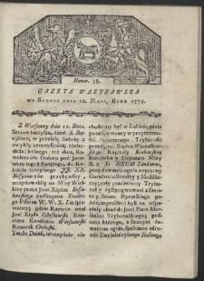 Gazeta Warszawska. R. 1779 Nr 38