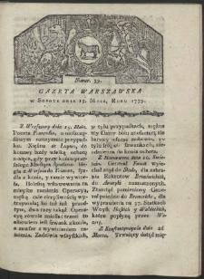 Gazeta Warszawska. R. 1779 Nr 39