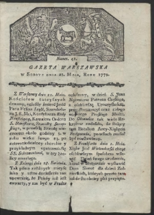 Gazeta Warszawska. R. 1779 Nr 41