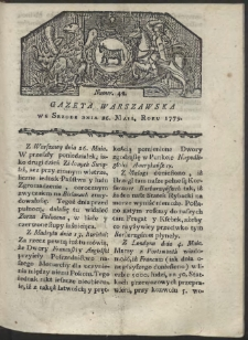 Gazeta Warszawska. R. 1779 Nr 42