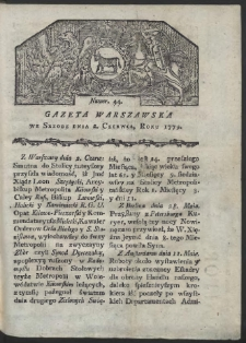 Gazeta Warszawska. R. 1779 Nr 44