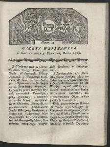 Gazeta Warszawska. R. 1779 Nr 45