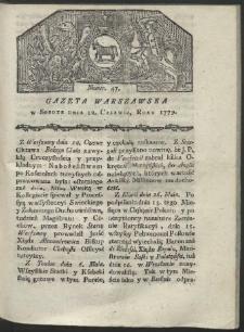 Gazeta Warszawska. R. 1779 Nr 47