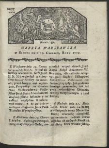 Gazeta Warszawska. R. 1779 Nr 49