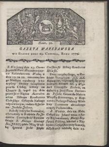 Gazeta Warszawska. R. 1779 Nr 50