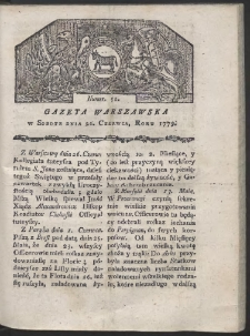 Gazeta Warszawska. R. 1779 Nr 51