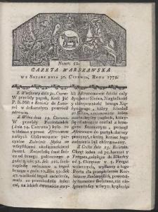 Gazeta Warszawska. R. 1779 Nr 52