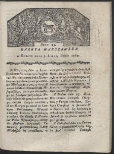 Gazeta Warszawska. R. 1779 Nr 53