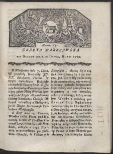 Gazeta Warszawska. R. 1779 Nr 54