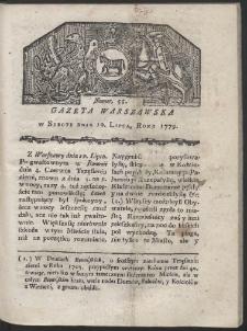 Gazeta Warszawska. R. 1779 Nr 55