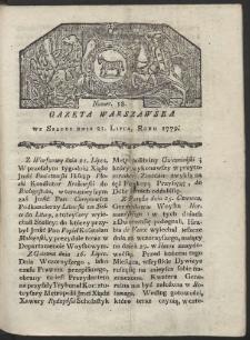Gazeta Warszawska. R. 1779 Nr 58