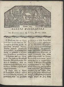 Gazeta Warszawska. R. 1779 Nr 60