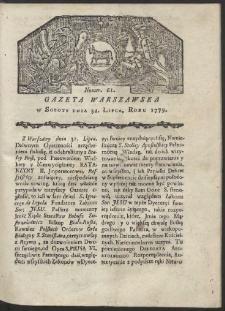 Gazeta Warszawska. R. 1779 Nr 61