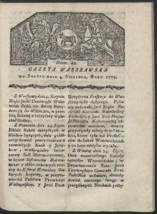 Gazeta Warszawska. R. 1779 Nr 62