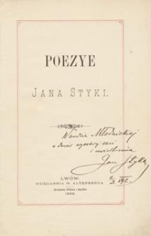 Poezye Jana Styki