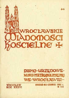 Wrocławskie Wiadomości Kościelne. R. 36 (1983), nr 4/6