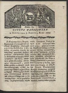 Gazeta Warszawska. R. 1779 Nr 63