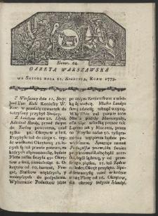 Gazeta Warszawska. R. 1779 Nr 64