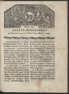 Gazeta Warszawska. R. 1779 Nr 67