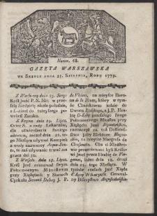 Gazeta Warszawska. R. 1779 Nr 68