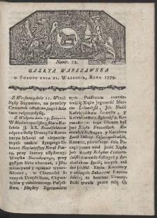 Gazeta Warszawska. R. 1779 Nr 73